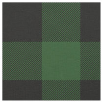 Rustic Green and Black Buffalo Plaid Fabric