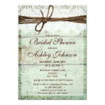 Rustic Green Barn Wood Bridal Shower Invitations Personalized Announcements