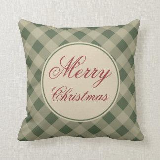 Rustic Green Christmas Pillow
