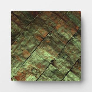 Rustic Green Sheet Metal Plaques