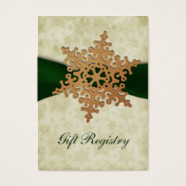 rustic green snowflakes Gift registry  Cards