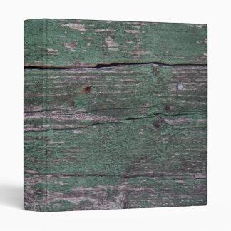 Rustic green wood 3 ring binder