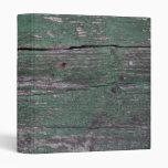 Rustic green wood binder