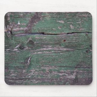 Rustic green wood mouse pad