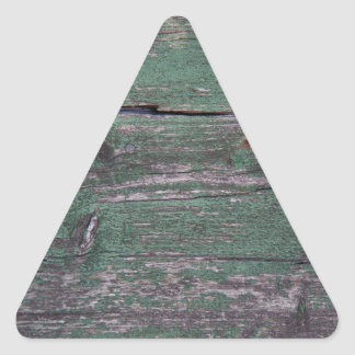 Rustic green wood triangle sticker