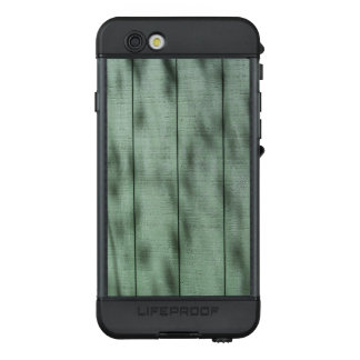 Rustic Green Wood Wall with Dappled Shadows/Light LifeProof NÜÜD iPhone 6s Case