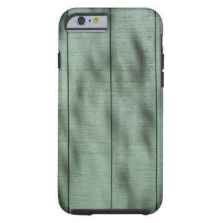 Rustic Green Wood Wall with Dappled Shadows/Light Tough iPhone 6 Case