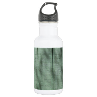 Rustic Green Wood Wall with Dappled Shadows/Light Water Bottle