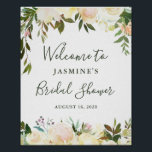 "Rustic Greenery Floral Bridal Shower Welcome Sign<br><div class=""desc"">Rustic Watercolor Greenery Floral Bridal Shower Welcome Sign Poster</div>"