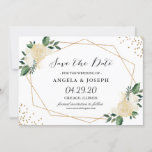 """Rustic Greenery Gold Glitters Floral Save the Date<br><div class=""""desc"""">Rustic Greenery Gold Glitters Floral Save the Date Card. (1) For further customization, please click the """"customize further"""" link and use our design tool to modify this template. (2) If you prefer Thicker papers / Matte Finish, you may consider to choose the Matte Paper Type. (3) If you need help...</div>"""