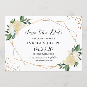 floral save the date cards zazzle