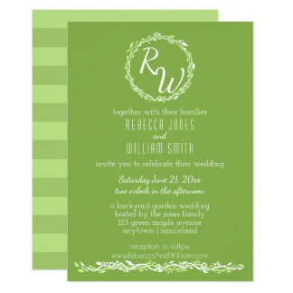 Rustic Greenery   Wedding Vine 5 x 7 Elegant Card