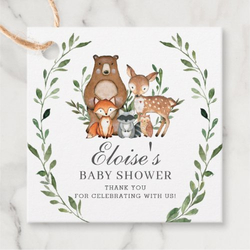 Rustic Greenery Woodland Baby Shower Thank You Favor Tags