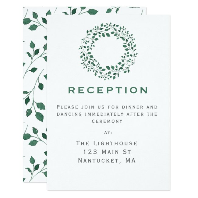 Rustic Greenery Wreath | Wedding Reception Insert
