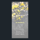 """Rustic Grey and Yellow Branches Wedding Programs<br><div class=""""desc"""">Rustic woodland or garden yellow and grey wedding programs with tree branches and string lights</div>"""