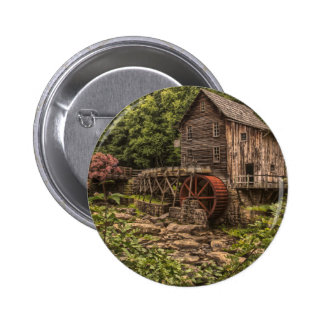 Rustic Grist Mill Pinback Button