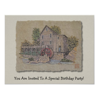 Rustic Gristmill Card