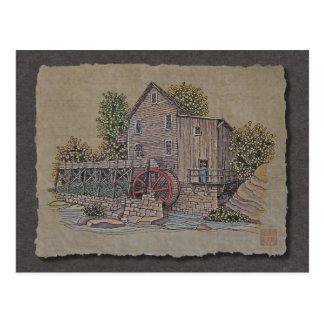 Rustic Gristmill Postcard