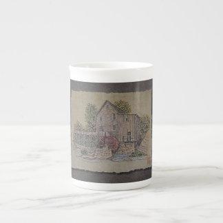 Rustic Gristmill Bone China Mugs