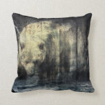 Rustic Grizzly Bear Design Pillow