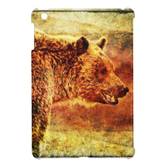 Rustic Grizzly Bear iPad Mini Case