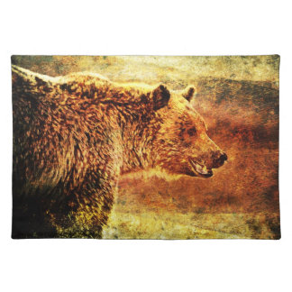 Rustic Grizzly Bear Placemat