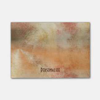 Rustic Grunge Abstract Design in Fall Colors Post-it Notes
