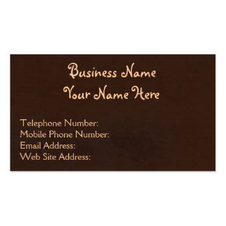 Rustic Grunge Brown Textured-effect Business Cards