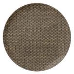 Rustic Grunge Burlap Texture Dinner Plates