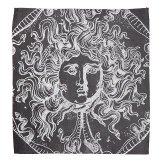 rustic grunge chalkboard art vintage medusa bandana