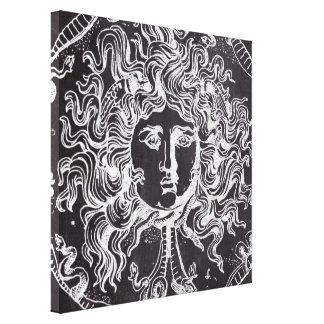 rustic grunge chalkboard art vintage medusa gallery wrapped canvas