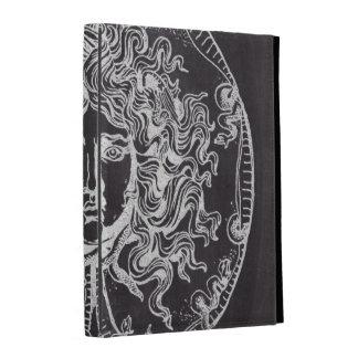 rustic grunge chalkboard art vintage medusa iPad cases
