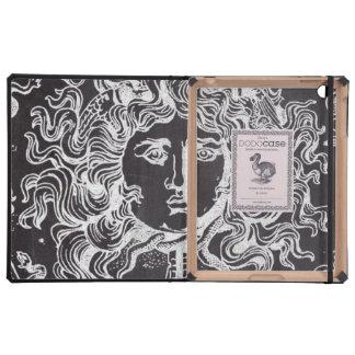 rustic grunge chalkboard art vintage medusa case for iPad