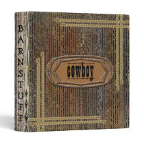 Rustic Grunge Distress Print Cowboy Notebook Binder