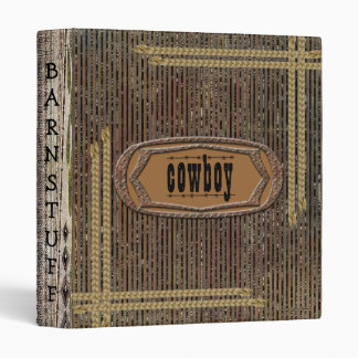 Rustic Grunge Distress Print Cowboy Notebook 3 Ring Binder