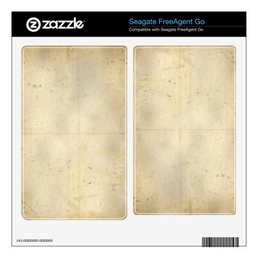 Rustic Grunge Faded Paper Seagate Hard Drive Skin Skin For The FreeAgent Go