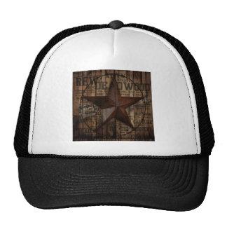 rustic grunge fashion texas star western trucker hat