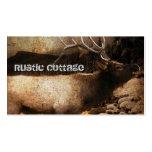 rustic grunge modern vintage woodland elk business cards