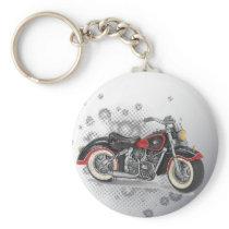 Rustic grunge Motorcyle Biker Wedding Keychain