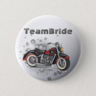 Rustic grunge Motorcyle Biker Wedding Pinback Button
