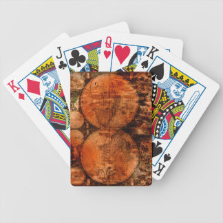 Rustic Grunge Old World Map Designer Playing Cards