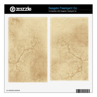 Rustic Grunge Parchment 2 Seagate Hard Drive Skin Decal For FreeAgent Go