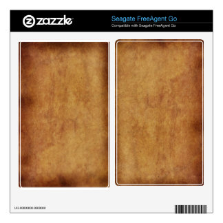 Rustic Grunge Parchment 4 Seagate Hard Drive Skin Decal For FreeAgent Go