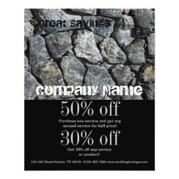 rustic grunge stone contractor construction flyer