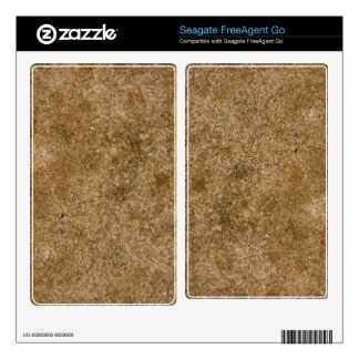 Rustic Grunge Textured Earth Seagate HD Drive Skin FreeAgent Go Decals