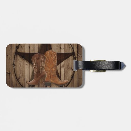 rustic grunge western country vintage luggage tags