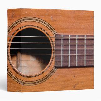 Rustic guitar 3 ring binder