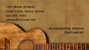 Guitar business cards templates zazzle rustic guitar business card colourmoves