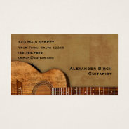 Rustic Guitar Business Card at Zazzle