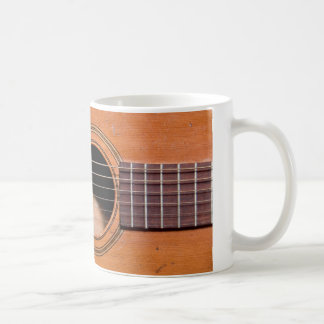 Rustic guitar coffee mug